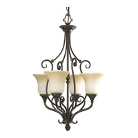 Kensington 4 Light 18 inch Forged Bronze Hall & Foyer Ceiling Light in Frosted Caramel Swirl