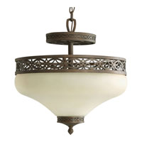 Progress Lighting Sanabria 3 Light Semi-Flush Mount in Roasted Java P3465-102