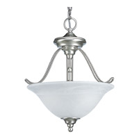 Progress Lighting Avalon 2 Light Semi-Flush Mount in Brushed Nickel P3468-09EBWB
