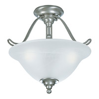 Progress Lighting Avalon 2 Light Semi-Flush Mount in Brushed Nickel P3468-09EBWB alternative photo thumbnail