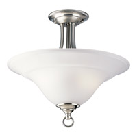 Progress P3473-09 Trinity 2 Light 16 inch Brushed Nickel Semi-Flush Mount Ceiling Light alternative photo thumbnail
