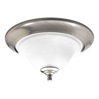 Trinity 2 Light 15 inch Brushed Nickel Close-to-Ceiling Ceiling Light