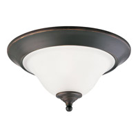 Trinity 2 Light 15 inch Antique Bronze Close-to-Ceiling Ceiling Light
