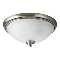 Progress Lighting Pavilion 2 Light Close-to-Ceiling in Brushed Nickel P3479-09