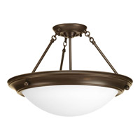Progress Lighting Eclipse 3 Light Close-to-Ceiling in Antique Bronze P3484-20