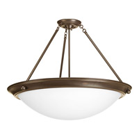 Eclipse 4 Light 27 inch Antique Bronze Close-to-Ceiling Ceiling Light in Satin White Glass