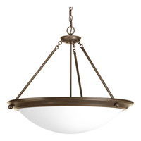 Eclipse 4 Light 27 inch Antique Bronze Foyer Pendant Ceiling Light in Satin White Glass
