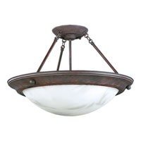 Progress Lighting Eclipse 3 Light Semi-Flush Mount in Cobblestone P3493-33EB