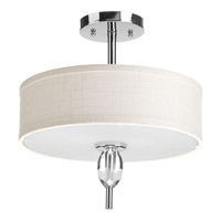 Status 2 Light 13 inch Polished Chrome Semi-Flush Mount Ceiling Light