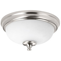 LED Alabaster LED 11 inch Brushed Nickel Flush Mount Ceiling Light