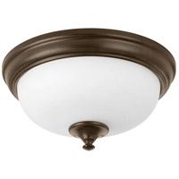 Progress P350001-020-30 Led Alabaster LED 11 inch Antique Bronze Flush Mount Ceiling Light