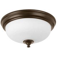 Progress P350002-020-30 Led Alabaster LED 13 inch Antique Bronze Flush Mount Ceiling Light