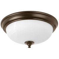Progress P350003-020-30 Led Alabaster LED 15 inch Antique Bronze Flush Mount Ceiling Light