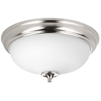 LED Alabaster LED 19 inch Brushed Nickel Flush Mount Ceiling Light
