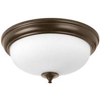 Progress P350004-020-30 Led Alabaster LED 19 inch Antique Bronze Flush Mount Ceiling Light
