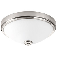 LED Linen LED 11 inch Brushed Nickel Flush Mount Ceiling Light
