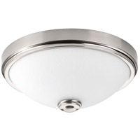 LED Linen LED 15 inch Brushed Nickel Flush Mount Ceiling Light