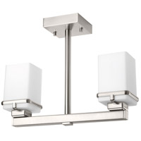 Metric 2 Light 16 inch Brushed Nickel Flush Mount Ceiling Light
