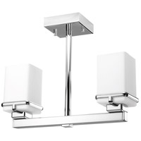 Metric 2 Light 16 inch Polished Chrome Flush Mount Ceiling Light