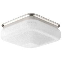 Progress P350024-009-30 Led Square LED 12 inch Brushed Nickel Flush Mount Ceiling Light