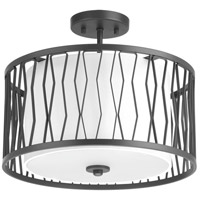 Progress P350027-143 Wemberly 3 Light 16 inch Graphite Semi-Flush Mount Ceiling Light, Design Series