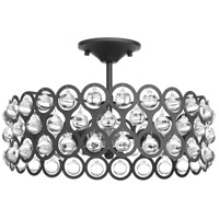 Vestique 3 Light 17 inch Graphite Semi-Flush Convertible Ceiling Light