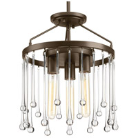 Sway 3 Light 14 inch Antique Bronze Semi-Flush Convertible Ceiling Light, Design Series