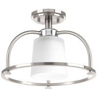 West Village 1 Light 14 inch Brushed Nickel Semi-Flush Convertible Ceiling Light, Design Series