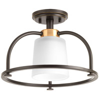 West Village 1 Light 14 inch Antique Bronze Semi-Flush Convertible Ceiling Light, Design Series