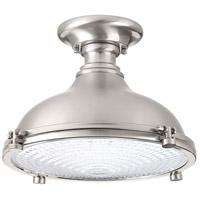 Progress P350033-009-30 Fresnel Lens LED 12 inch Brushed Nickel Semi-Flush Mount Ceiling Light