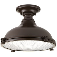Fresnel Lens LED 12 inch Oil Rubbed Bronze Semi-Flush Mount Ceiling Light