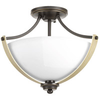 Noma 2 Light 16 inch Antique Bronze Semi-Flush Convertible Ceiling Light