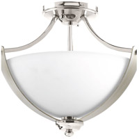 Noma 2 Light 16 inch Polished Nickel Semi-Flush Convertible Ceiling Light, Design Series