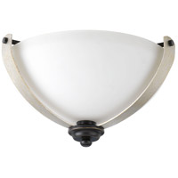 Noma 2 Light 15 inch Antique Bronze Flush Mount Ceiling Light