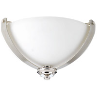 Noma 2 Light 15 inch Polished Nickel Flush Mount Ceiling Light