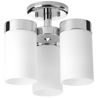 Elevate 3 Light 12 inch Polished Chrome Flush Mount Ceiling Light, Design Series