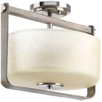 Progress P350041-009 Aspen Creek 2 Light 14 inch Brushed Nickel Semi-Flush Convertible Ceiling Light Design Series