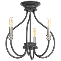 Whisp 3 Light 15 inch Graphite Semi-Flush Convertible Ceiling Light