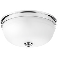Topsail 3 Light 14 inch Polished Chrome Flush Mount Ceiling Light