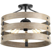Gulliver 3 Light 17 inch Graphite Semi-Flush Convertible Ceiling Light
