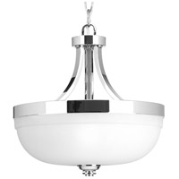 Progress P350063-015 Topsail 3 Light 13 inch Polished Chrome Semi Flush Mount Ceiling Light Convertible
