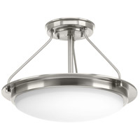 Apogee LED 15 inch Brushed Nickel Semi-Flush Convertible Ceiling Light