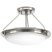 Progress P350064-009-30 Apogee LED 15 inch Brushed Nickel Semi-Flush Convertible Ceiling Light