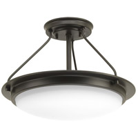 Apogee LED 15 inch Architectural Bronze Semi-Flush Convertible Ceiling Light