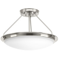 Progress P350065-009-30 Apogee LED 21 inch Brushed Nickel Semi-Flush Convertible Ceiling Light