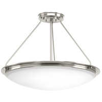 Progress P350066-009-30 Apogee LED 27 inch Brushed Nickel Semi-Flush Convertible Ceiling Light