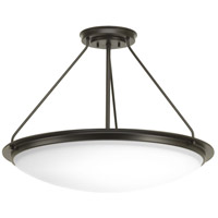Apogee LED 27 inch Architectural Bronze Semi-Flush Convertible Ceiling Light
