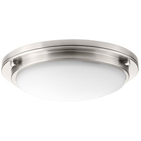 Apogee LED 15 inch Brushed Nickel Flush Mount Ceiling Light