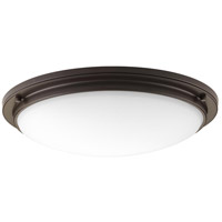 Apogee LED 21 inch Architectural Bronze Flush Mount Ceiling Light