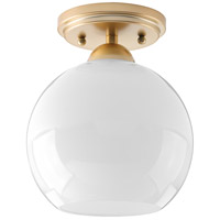 Carisa 1 Light 7 inch Vintage Gold Flush Mount Ceiling Light